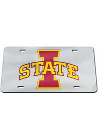 Iowa State Cyclones Silver on Black Car Accessory License Plate