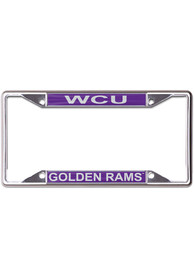 West Chester Golden Rams Inlaid License Frame