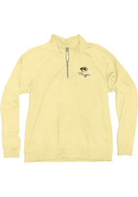 Missouri Tigers Womens Folly Crest 1/4 Zip Pullover - Yellow