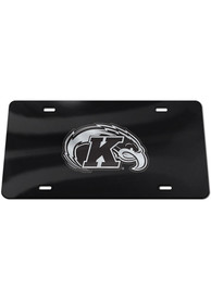 Kent State Golden Flashes Silver Team Logo Black Car Accessory License Plate