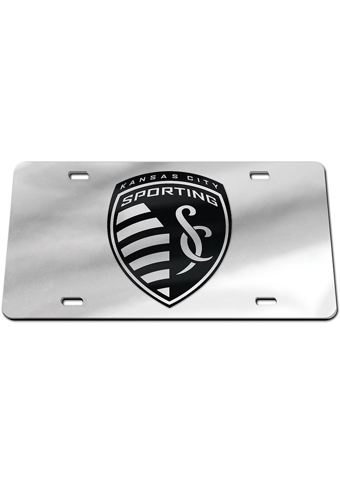 Sporting Kansas City Black on Silver Car Accessory License Plate