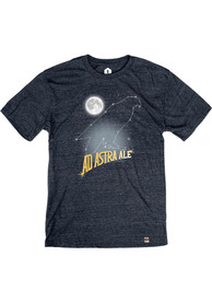 Free State Brewing Co. Heather Navy Ad Astra Constellation Short Sleeve T-Shirt