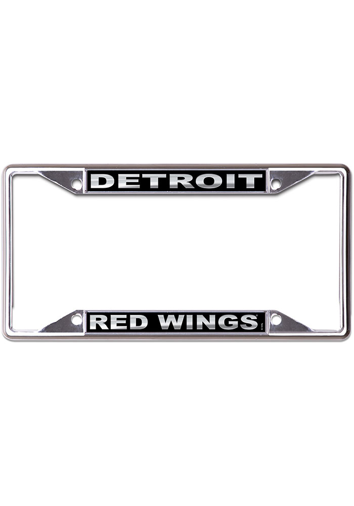 Detroit Red Wings Black and Silver License Frame - Image 1