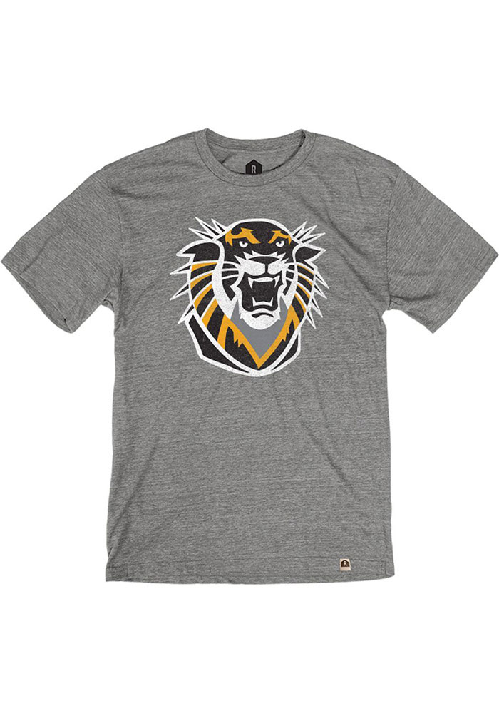 Fort Hays State Tigers Grey Triblend Short Sleeve Fashion T Shirt - Image 1