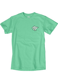North Texas Mean Green Vintage Worm T Shirt - Green