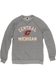 Central Michigan Chippewas Rally Name and Number Fashion Sweatshirt - Grey