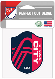 St Louis City SC 4x4 Auto Decal - Red