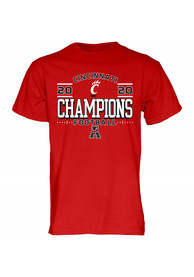 Cincinnati Bearcats 2020 AAC Champions Locker Room T Shirt - Red