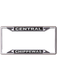 Central Michigan Chippewas Black and Silver License Frame