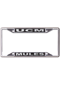 Central Missouri Mules Black and Silver License Frame