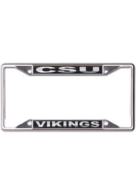 Cleveland State Vikings Black and Silver License Frame