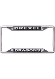 Drexel Dragons Black and Silver License Frame