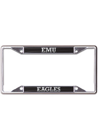 Eastern Michigan Eagles Black and Silver License Frame