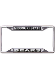 Missouri State Bears Black and Silver License Frame
