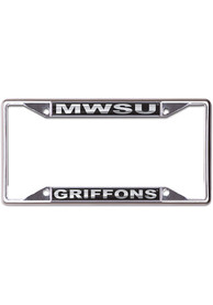 Missouri Western Griffons Black and Silver License Frame