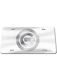 Chicago Cubs Frosted Car Accessory License Plate