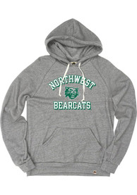 Northwest Missouri State Bearcats Rally Triblend Number One Vintage Distressed Fashion Hood - Grey