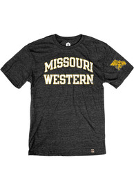 Missouri Western Griffons Rally Triblend Arch Name Arm Hit Fashion T Shirt - Black