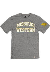 Missouri Western Griffons Rally Triblend Arch Name Arm Hit Fashion T Shirt - Grey