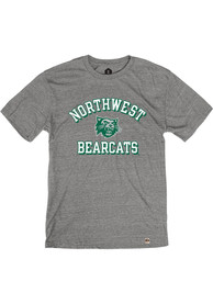 Northwest Missouri State Bearcats Rally Triblend Number One Vintage Distressed Fashion T Shirt - Grey