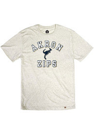 Akron Zips Rally Triblend Number One Distressed Fashion T Shirt - Oatmeal