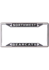 Northwest Missouri State Bearcats Metallic Black and Silver License Frame