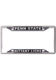 Penn State Nittany Lions Metallic Black and Silver License Frame