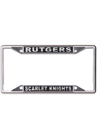 Rutgers Scarlet Knights Metallic Black and Silver License Frame