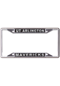 UTA Mavericks Metallic Black and Silver License Frame
