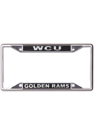 West Chester Golden Rams Metallic Black and Silver License Frame