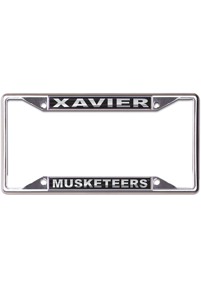 Xavier Musketeers Metallic Black and Silver License Frame - Image 1