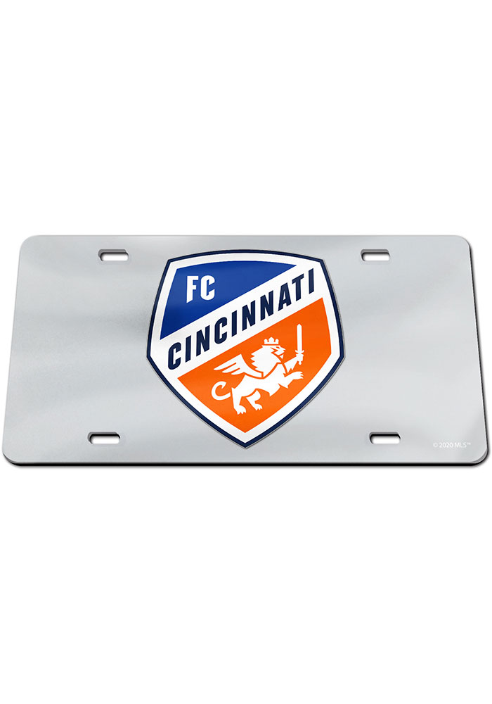 FC Cincinnati Silver Acrylic Car Accessory License Plate