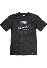 Manhattan Brewing Company Beer Glass Heather Black Short Sleeve T-Shirt