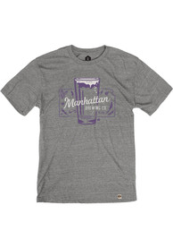 Manhattan Brewing Company Heather Grey Beer Glass Short Sleeve T-Shirt