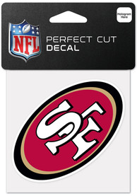 San Francisco 49ers 4x4 Inch Auto Decal - Red