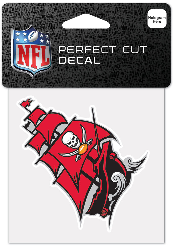 Tampa Bay Buccaneers 4x4 Inch Auto Decal - Black - Image 1