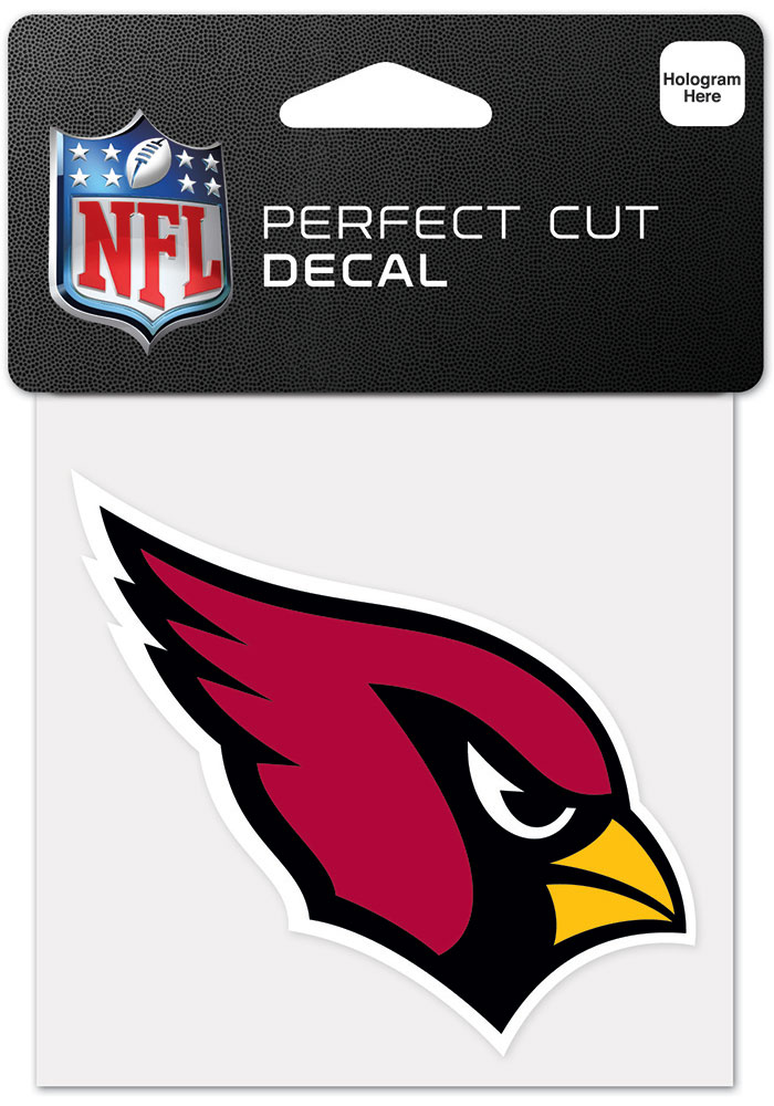 Arizona Cardinals 4x4 Inch Auto Decal - Black