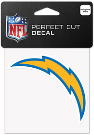 Los Angeles Chargers 4x4 Inch Auto Decal - Blue