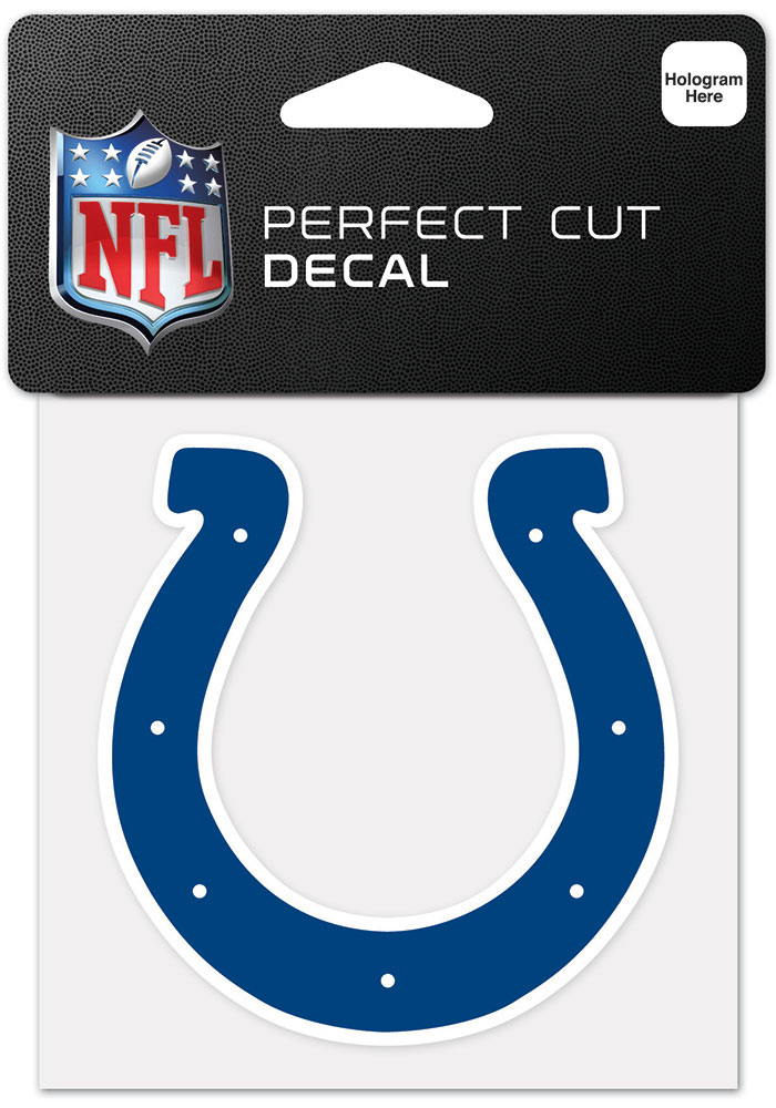Indianapolis Colts 4x4 Inch Auto Decal - Blue - Image 1
