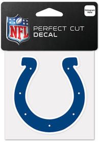 Indianapolis Colts 4x4 Inch Auto Decal - Blue