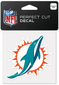 Miami Dolphins 4x4 Inch Auto Decal - Green