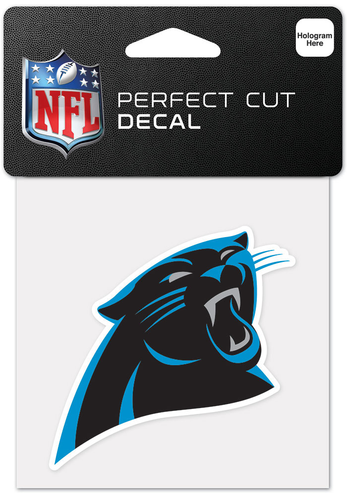 Carolina Panthers 4x4 Inch Auto Decal - Black