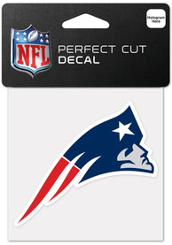 New England Patriots 4x4 Inch Auto Decal - Blue