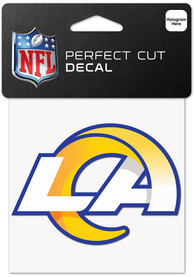 Los Angeles Rams 4x4 Inch Auto Decal - Blue