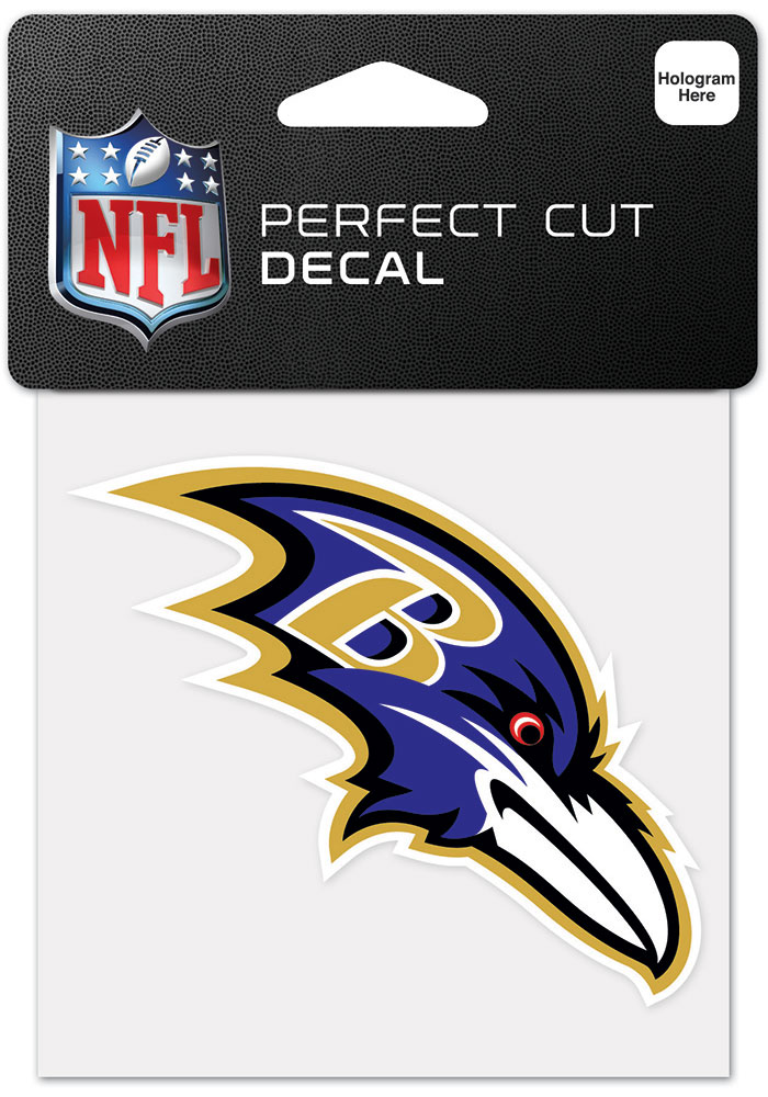 Baltimore Ravens 4x4 Inch Auto Decal - Black