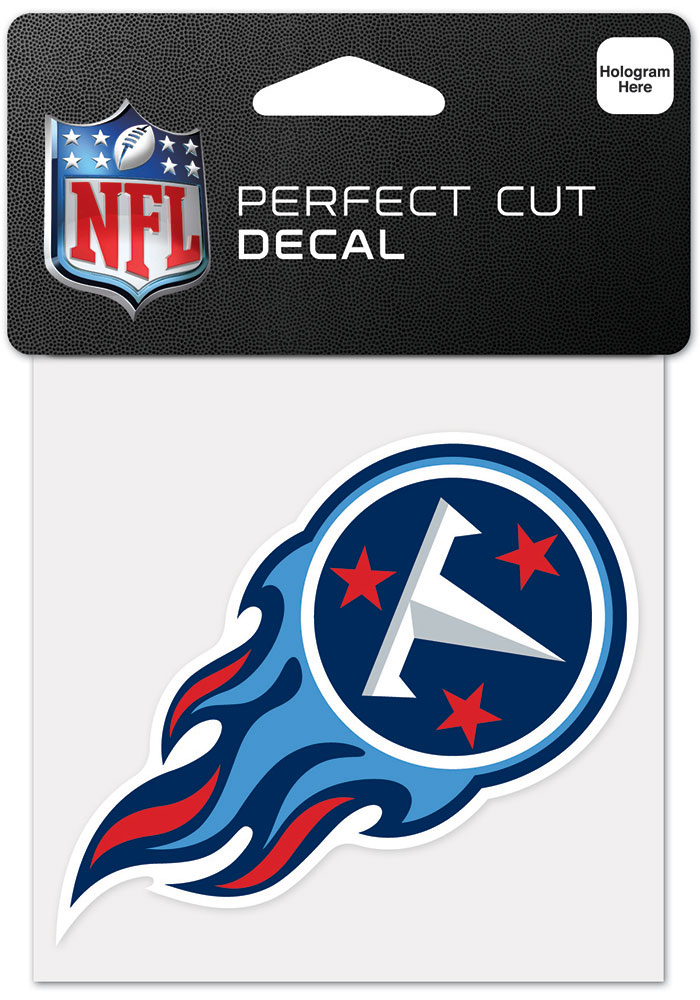 Tennessee Titans 4x4 Inch Auto Decal - Blue - Image 1