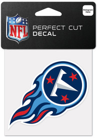 Tennessee Titans 4x4 Inch Auto Decal - Blue