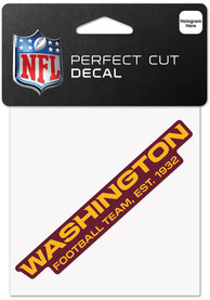 Washington Redskins 4x4 Inch Auto Decal - Red