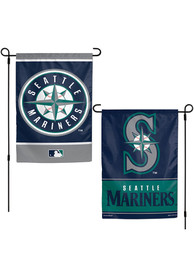 Seattle Mariners 2 Sided Team Logo Garden Flag