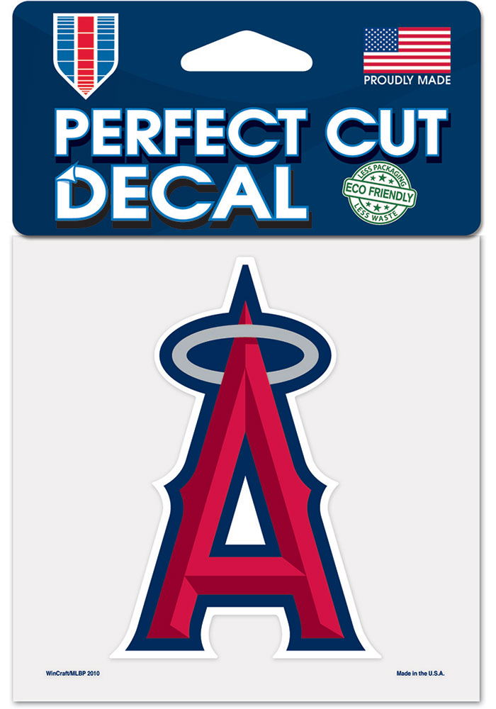 Los Angeles Angels 4x4 inch Auto Decal - Red
